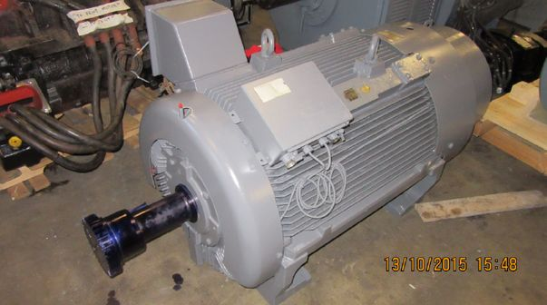 Exterior view of an electric engine