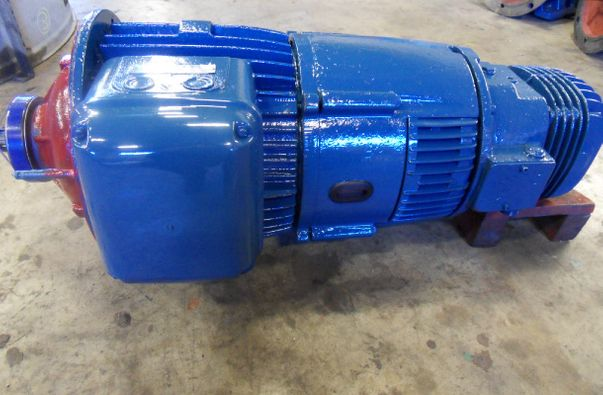 Parts of a blue turbine